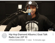 https://youtu.be/qEO5fjxJgCw  Now Playing   @goatalkradiolive EP 10!  on @youtube! Hosted by  @iamxxl  and @rockthemicnews ! Hip Hop Diamond Albums!#GOATTALKRADIO #SUBSCIBE #HPMGONDEMAND #Diamond