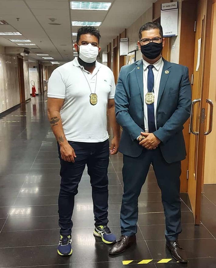Tribunal de Justiça do Rio de Janeiro: Rildo Silveira (Perito do Tribunal de Justiça do RJ e do IPCCERJ) e Leandro Lima (Chefe do IPCCERJ)