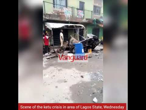 Cultists attacking rival gang members in Ketu