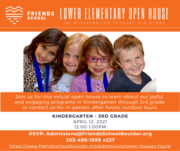 Kindergarten-3rd Grade OPEN HOUSE