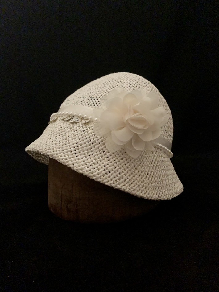 Rosalind | white woven summer cloche