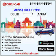 Book Delhi to Agra Cabs Starting from ₹1950