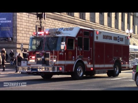 Boston EMS Supervisor + Boston Fire Rescue 2 and Rehab Unit Responding