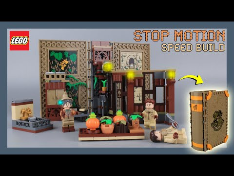 LEGO Harry Potter Hogwarts Moment : Herbology Class 76384 Stop Motion Speed Build Review