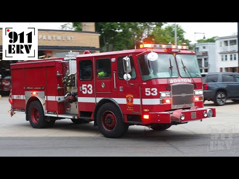 Boston Fire Engine 53 Responding