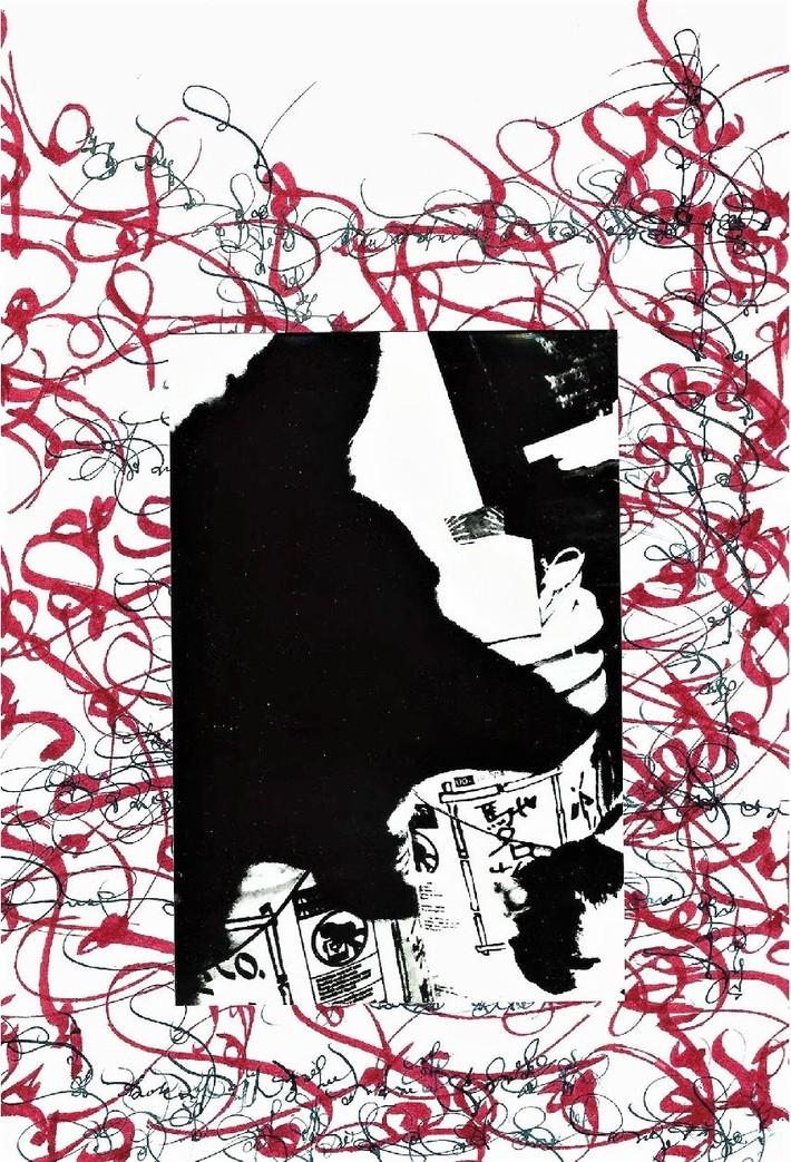 Mail art collab by Kerri Pullo (Arizona, USA) & DSF (Michael Kelly) (Massachusetts, USA)