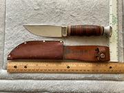 KABAR 1203 FIXED BLADE KNIFE AND LEATHER SHEATH 3