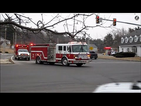 Merrimack, NH Engine 2 and Ambulance 2 Responding