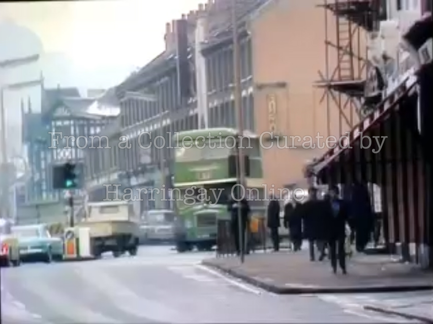 Station Road and Tudor Hall from 'On the Buses', c1975