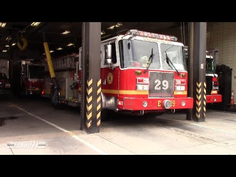 Philadelphia Fire Department Medic 46 and Engine 29 Responding