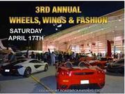 3RD ANNUAL WHEELS, WINGS & FASHION HANGER PARTY