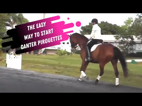 The Easy Way To Start Canter Pirouettes With Your Dressage Horse