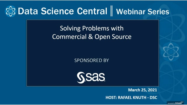 DSC Webinar Series: Solving Problems with Commercial & Open Source