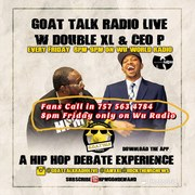Tonight...Support By Calling In!! 757-563-4784 FANS CALL IN SHOW! Your chance to challenge the views of Host @iamxxl x @rockthemicnews!! Tune in on Tonight @ 8pm @goatalkradiolive on @Wuworld! GOATTAL