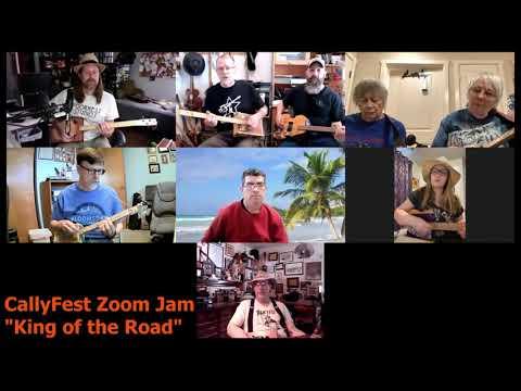 CallyFest Zoom Jam - King of the Road - Cigar Box Guitar
