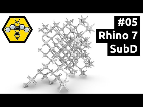 Organic Modelling with Wasp, Weaverbird & Grasshopper - Tutorial #05: Rhino 7 SubD Tools