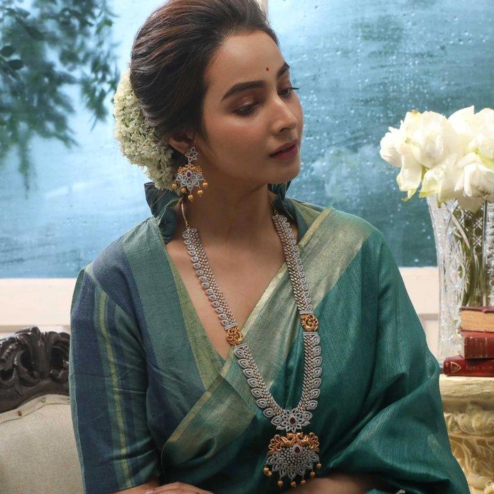 Iven Nakshatra CZ Long Necklace Set