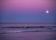 Moon Rise over the Pacific Ocean