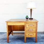 Antique Oak Teachers Desk