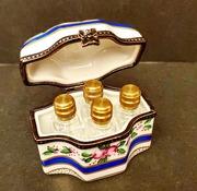 Limoges France Perfume Casket Signed