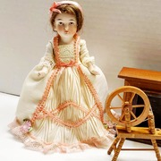 Antique Bisque 6in Doll Perfect for Dollhouse Diarama