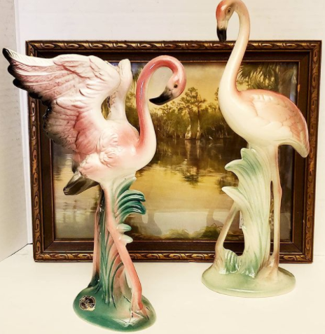 Signed Brad Keeler Flamingos