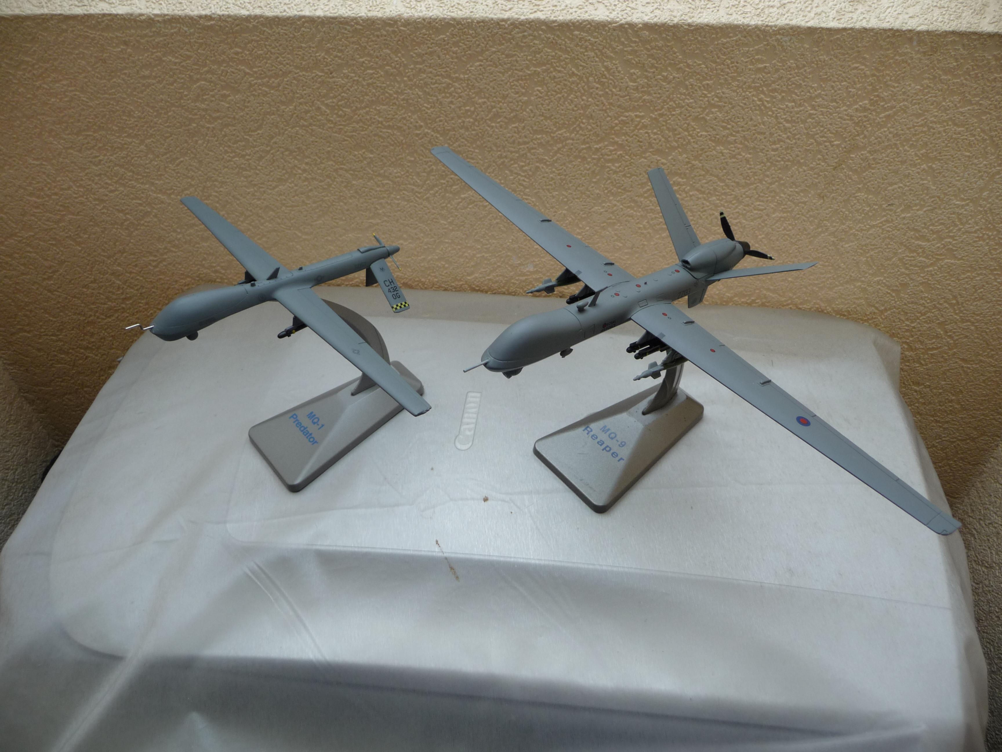 1/72 MQ1 Predator / MQ9 Reaper comparison !!!