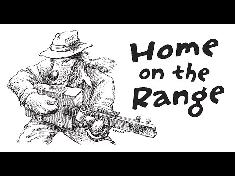 Home on the Range - Acoustic Cigar Box Guitar - Use headphones for this song!