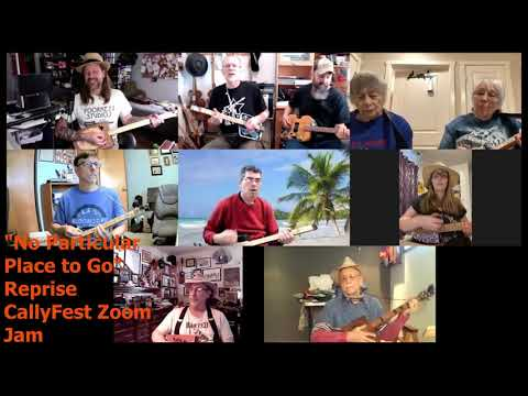 CallyFest Zoom Jam -  No Particular Place to Go (Reprise) - Cigar Box Guitar