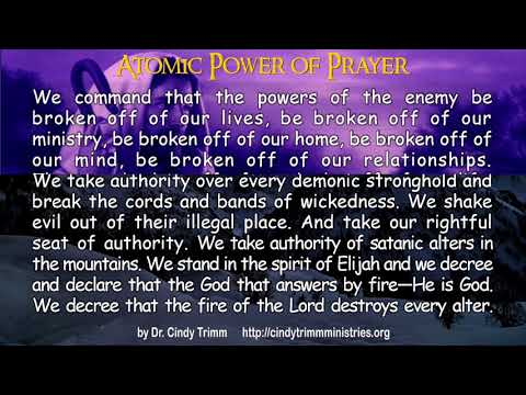 Atomic Power of Prayer by Dr  Cindy Trimm!