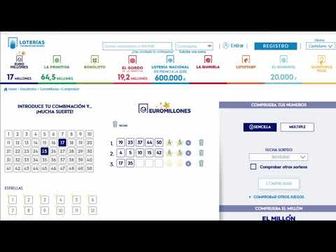 Comprobación de los boletos de euromillones del sorteo del viernes dia 2 de abril de 2021.
