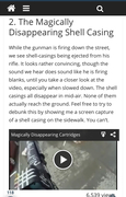 Look this up, shell casings disappear!