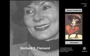 """Barbara Flamand: couverture de mon cd-rom in """"Le testament des poètes"""" lui consacré"""
