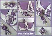 Dammen Tasche aus leder in lila