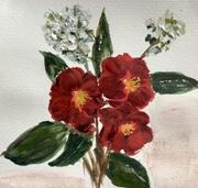 Joyeuses Pâques, Camélias et fleurs de cerisier
