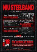 NIU Steelband, All University Steelband, CSA Steelband spring 2021 concert.