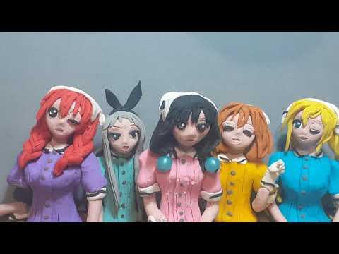 Blend S clay animation Smile, Sweet, Sister, Sadistic, Surprise, Service meme, stop motion.