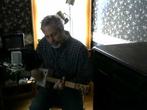 Killing the Blues   cover on cigar box guitar