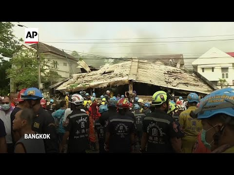 Building in Bangkok collapses after fire, 3 dead