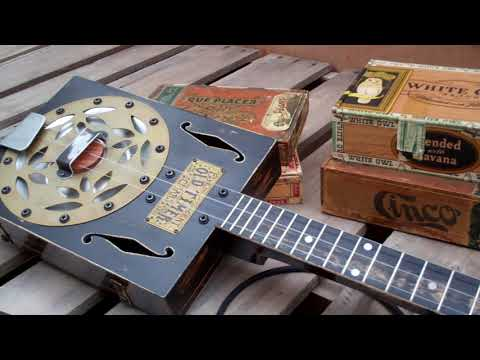 Cigar Box Resonator Guitar - Old Time Slide Bottleneck Blues