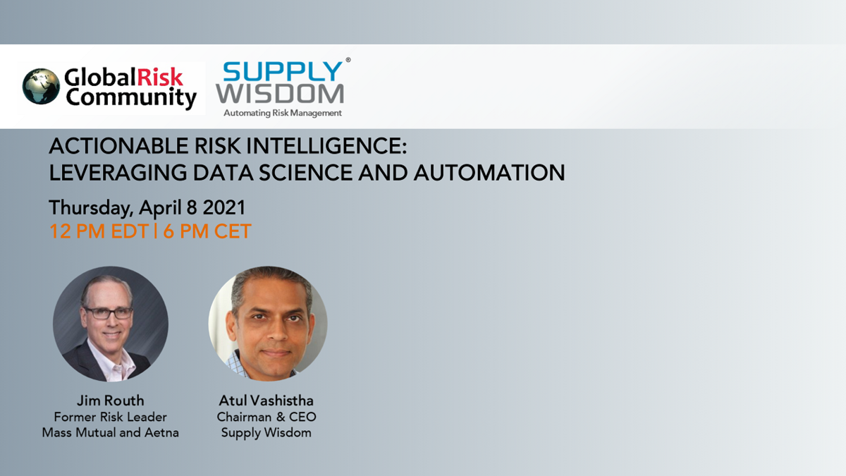 Actionable Risk Intelligence: Leveraging Data Science and Automation
