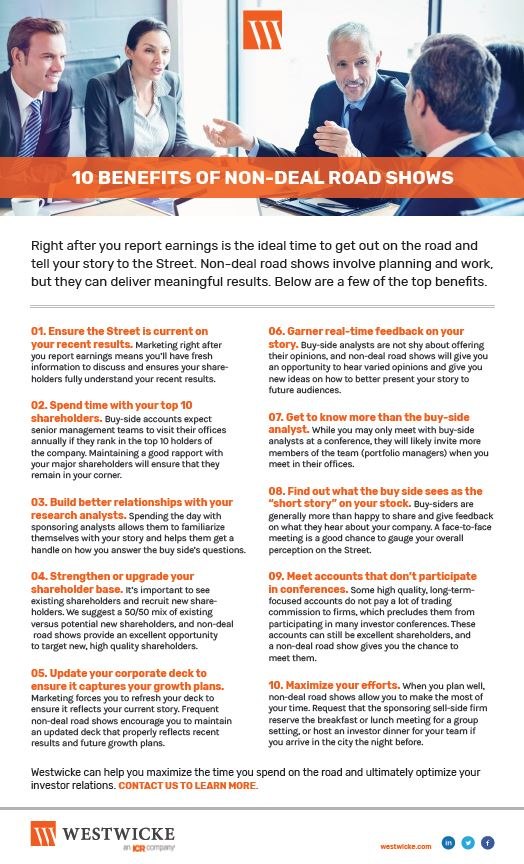 10 Benefits of Non-Deal-Roadshows