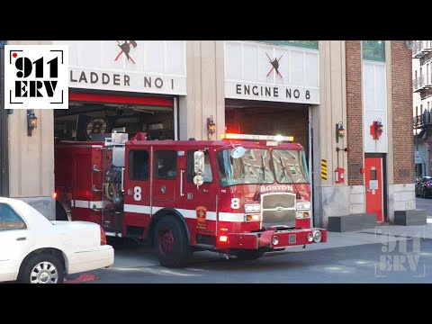 Boston Fire Engine 8 Responding