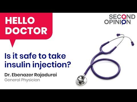 Is it safe to take insulin injection? - Dr. Ebenazer Rajadurai - Tamil