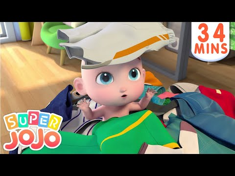 Kids Get Dressed | Wear Clothes | Tie Your Shoes + More Nursery Rhymes & Kids Songs - Super JoJo
