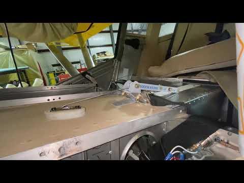 Zenith 801 float water rudder retract handle mechanism