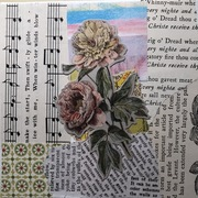 mail art April 2021 pink flower