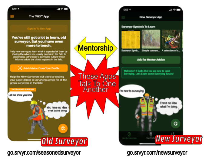 New Surveyor and Old Surveyor Apps
