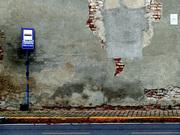 Fermata dell' autobus a Montanaso Lombardo