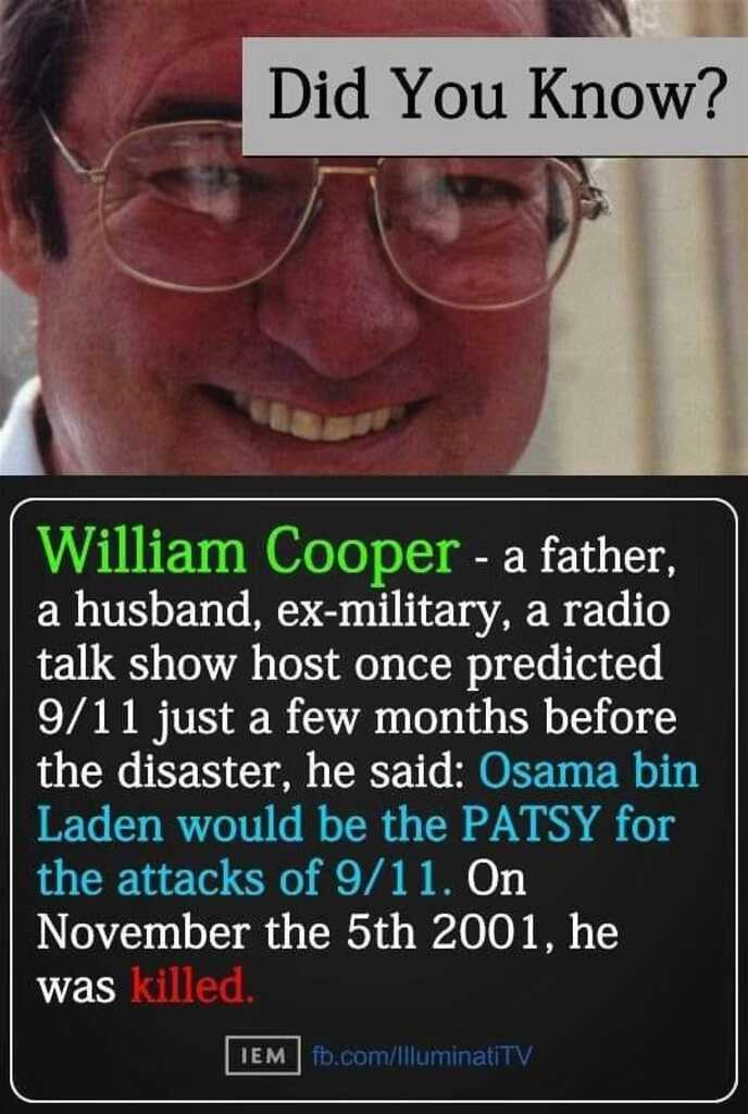 William Cooper and 911,,,then killed